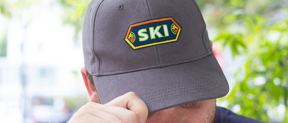 Gray SKI Ball Cap