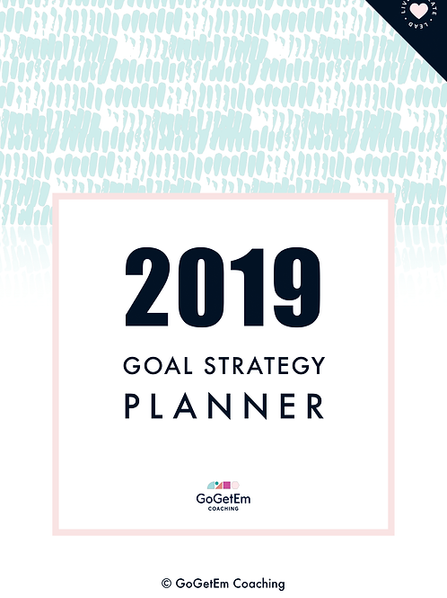2019 Goal Strategy Planner