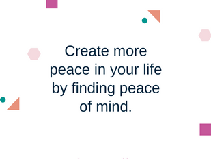 If you want peace, you first have to find it inside yourself! Yet this is perhaps the most challengi