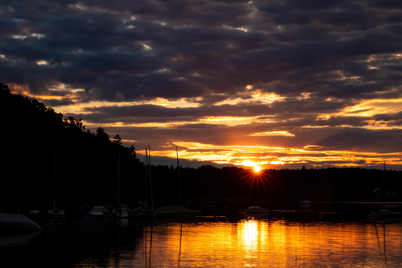 Sonnenuntergang Seeshaupt