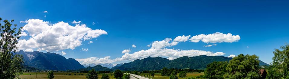 Blick aufs Wettersteingebirge