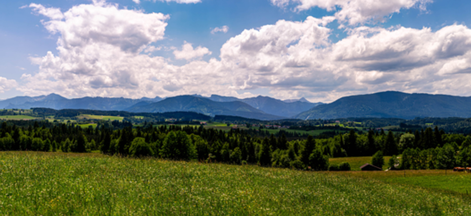 Bergpanorama von Schönberg aus
