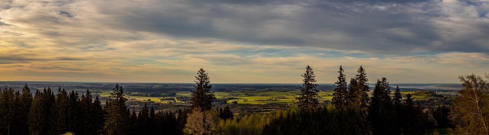 Panorama nördlich vom hohen Peißenberg