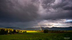 Regenbogen überm Loisachtal