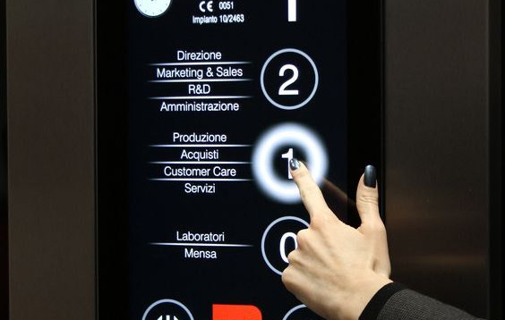 Elevator touch push buttons