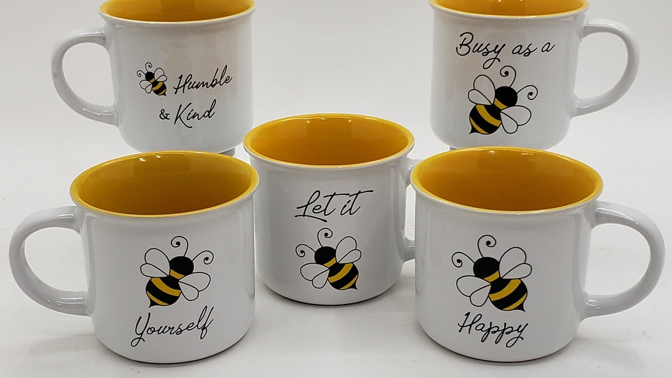Bee Happy Mug assorted