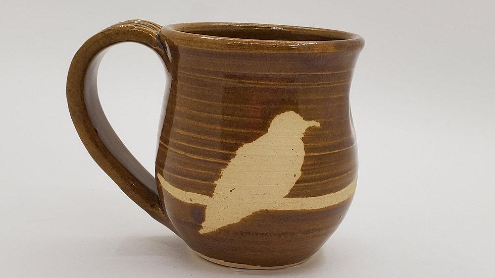 Bird pottery mug