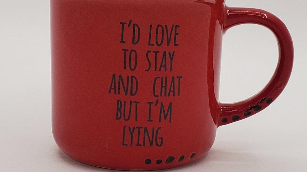 Stay & Chat mug
