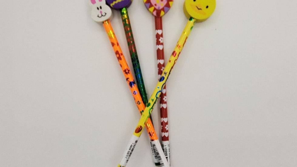 Easter Pencils w/ eraser assorted