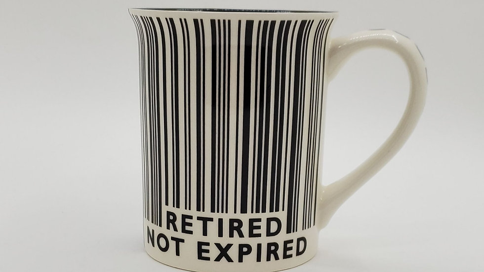 Retired not Expired mug