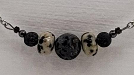 Gemstone diffuser necklace