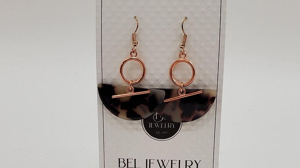 Gold-plated Tortoise Shell earrings