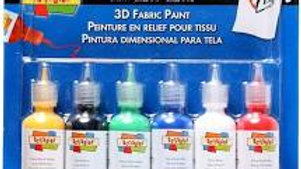 Scribbles 3D Fabric Paint -Shiny