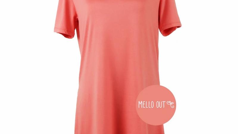 Hello Mello Tee - Coral