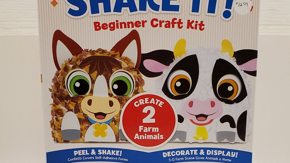 Shake It Craft Kit-Farm Animals