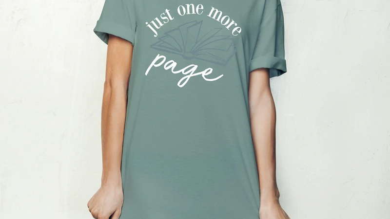 Just One More Page - Hello Mello Sleep Shirt