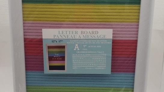 Rainbow Letter Board