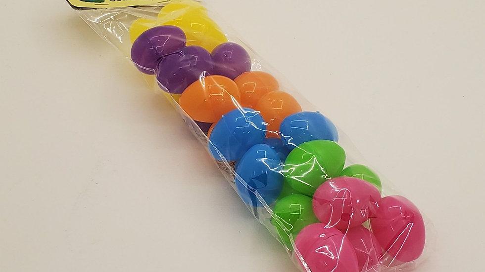 Small Plastic Filler Eggs 24 brilliant colors