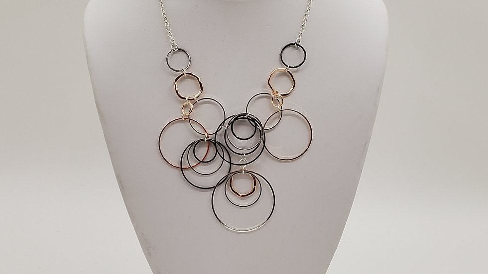 Tri-Color Hoops necklace