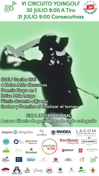 SALIDAS YOINGOLF ESCORPIÓN 31/07/2021