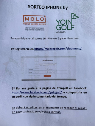 SORTEO IPHONE MANISES GOLF by MOLO