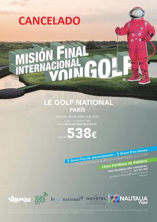 COMUNICADO DE CANCELACIÓN  FINAL INTERNACIONAL YOINGOLF