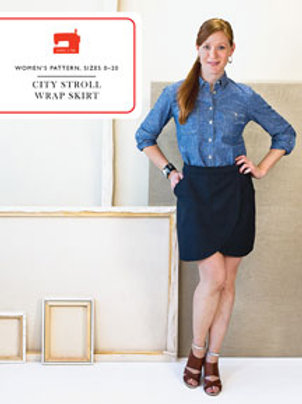 copy of L+Co. City stroll wrap skirt sewing pattern (0-20)