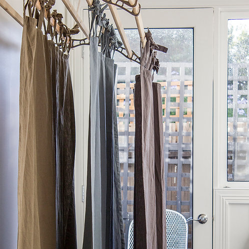 Bolton Winter Linen Curtain Charcoal