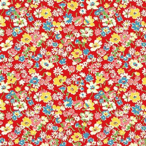 P&B Textiles - Toy Chest Florals RED (1/2m)