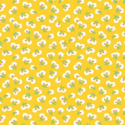 P&B Textiles - Toy Chest Florals YELLOW (1/2m)
