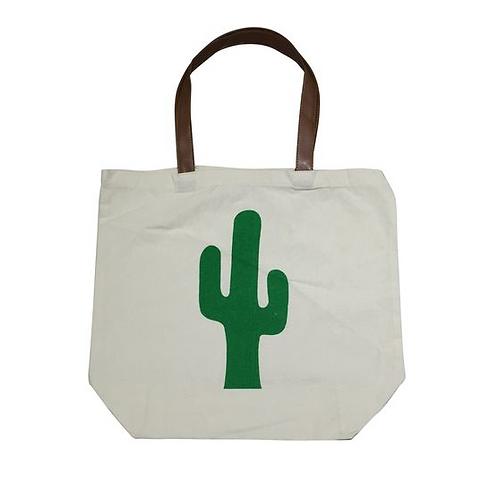 Cactus canvas tote