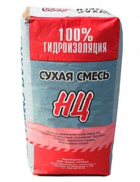 Цементная смесь Русеан НЦ для гидроизоляции, 25кг