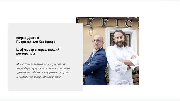 Сайт для ресторана Officina