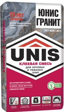 """Клей плиточный """"Юнис Гранит"""" (25 кг) 48 меш"""