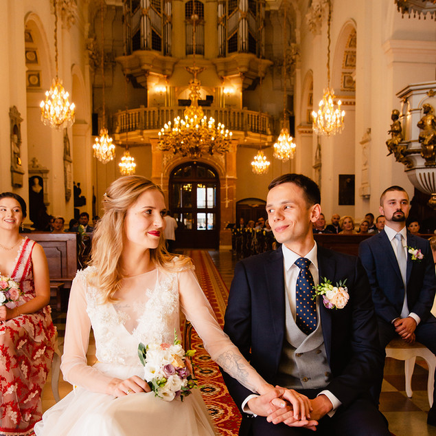 ślub warszawa kościół para młoda