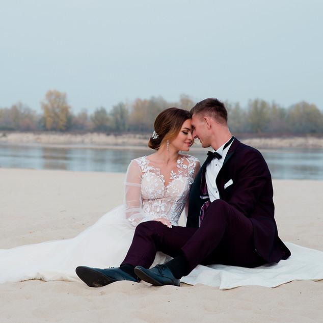 sesja na plaży sukienka