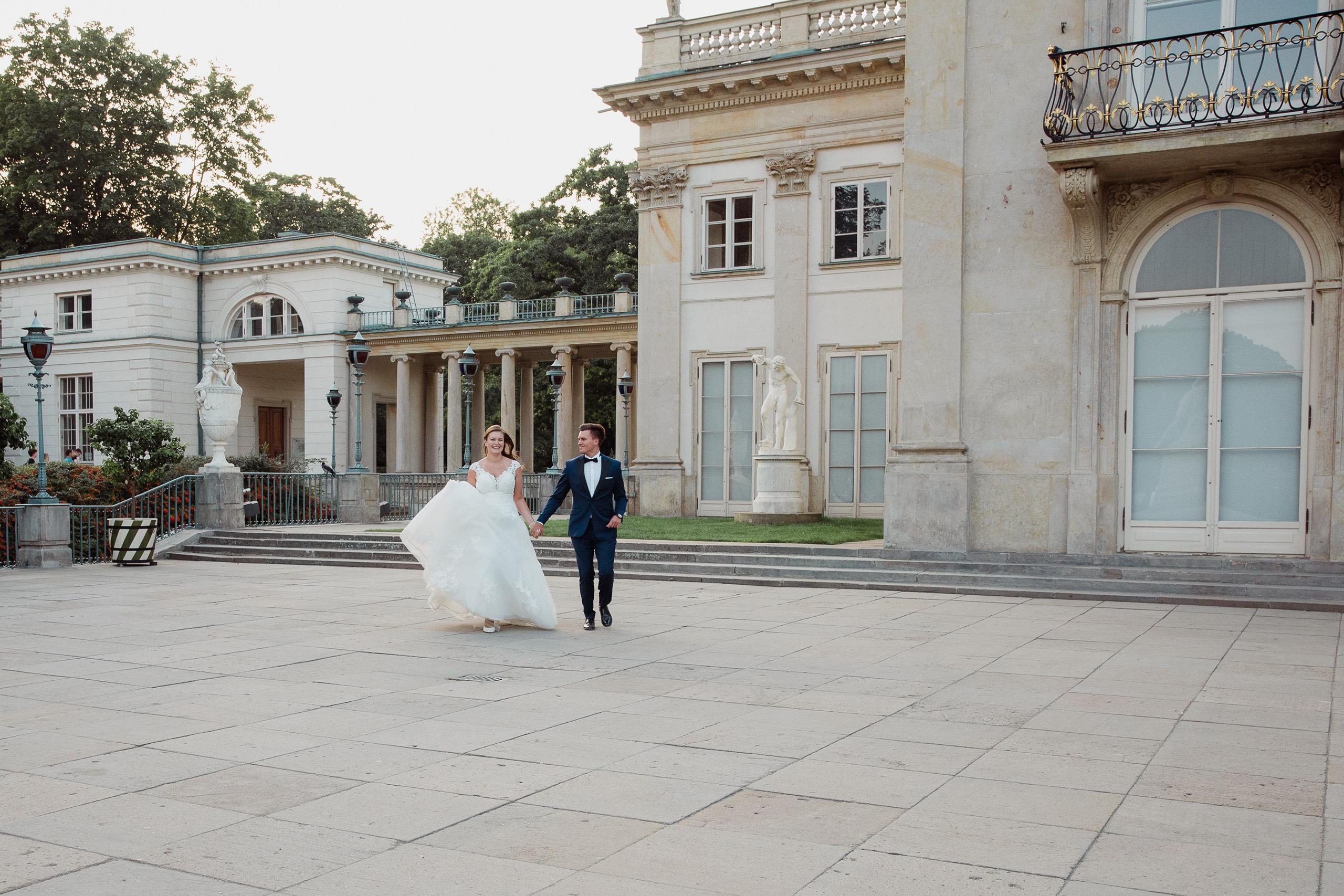 łazienki warszawskie Sesja ślubna