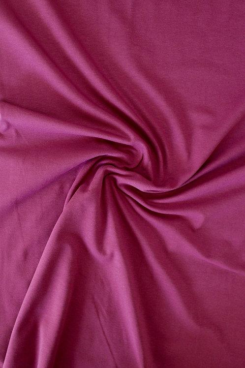 Cotton Jersey - Wine - 1/2 metre