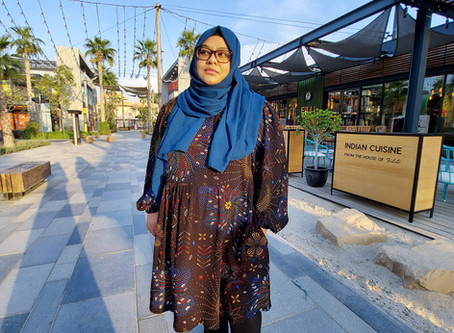 A swishy dress with statement sleeves | A Guest blog post by Sherizad