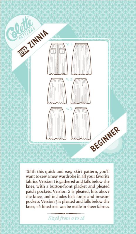 Zinnia Skirt pattern