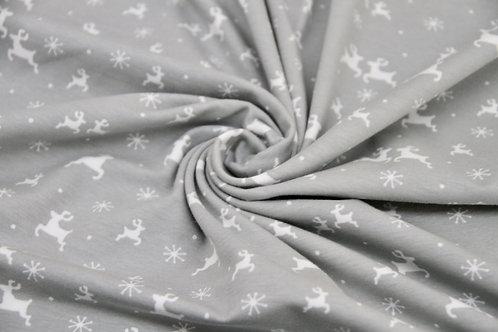 Cotton Jersey - Reindeers Grey - 1/2 metre