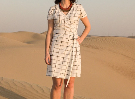 A wrap dress in Cotton Jersey | A Guest blog post by Anais