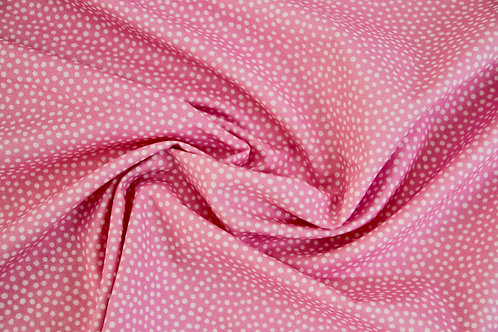 Cotton Lawn - All about the dots Carnation Pink - 1/2 metre
