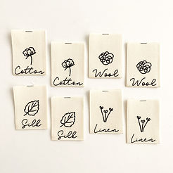 """NATURAL FIBRES COLLECTION"" Cotton Labels 8 Pack"