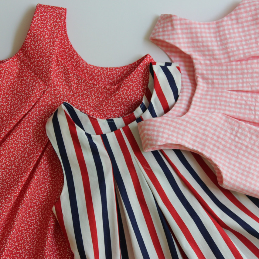 Lara Tunics in 3 different fabrics & designs, including the new edition coming next month.