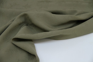 Viscose - Textured Floral Oliv