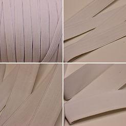 Flat Elastic - 4 different width - 1/2 metre