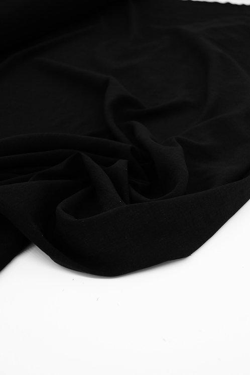 Viscose Linen - Black - 1/2 metre
