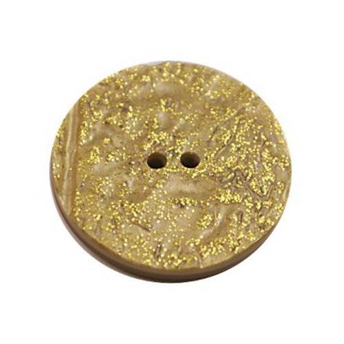 Acrylic Button 2 Hole Metallic 14mm Yellow / Gold