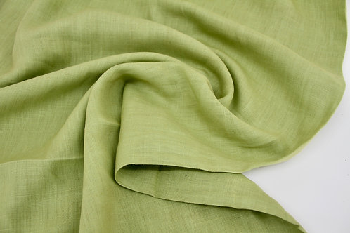 Pure Linen - Apple Green - 1/2 metre